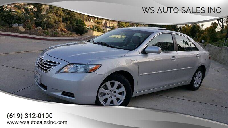 2007 Toyota Camry Hybrid for sale at WS AUTO SALES INC in El Cajon CA