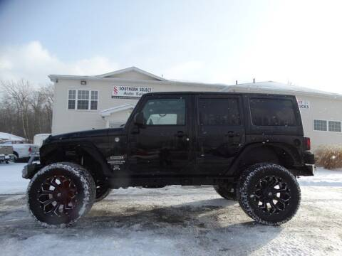 2015 Jeep Wrangler Unlimited for sale at SOUTHERN SELECT AUTO SALES in Medina OH
