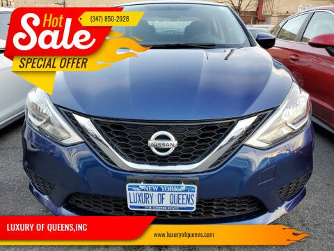 2016 Nissan Sentra for sale at LUXURY OF QUEENS,INC in Long Island City NY