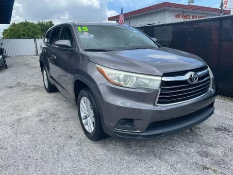 2015 Toyota Highlander for sale at Alma Car Sales in Miami FL