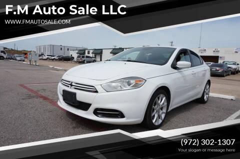 2013 Dodge Dart for sale at F.M Auto Sale LLC in Dallas TX