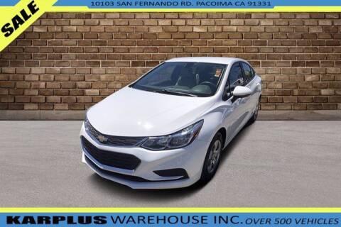 2017 Chevrolet Cruze for sale at Karplus Warehouse in Pacoima CA