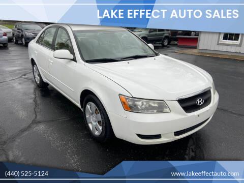 2007 Hyundai Sonata for sale at Lake Effect Auto Sales in Chardon OH