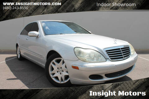 2003 Mercedes-Benz S-Class for sale at Insight Motors in Tempe AZ
