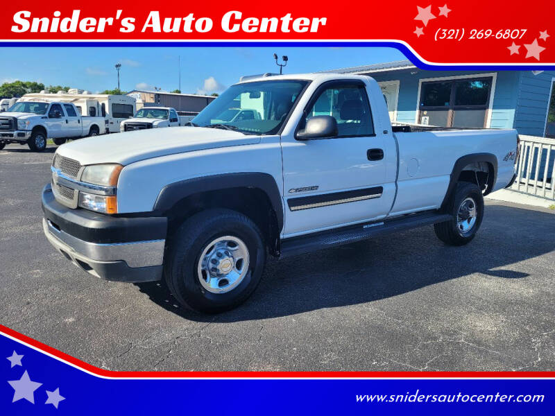 2004 Chevrolet Silverado 2500HD for sale at Snider's Auto Center in Titusville FL