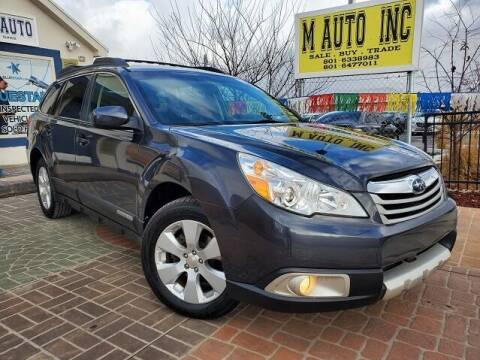 2010 Subaru Outback for sale at M AUTO, INC in Millcreek UT