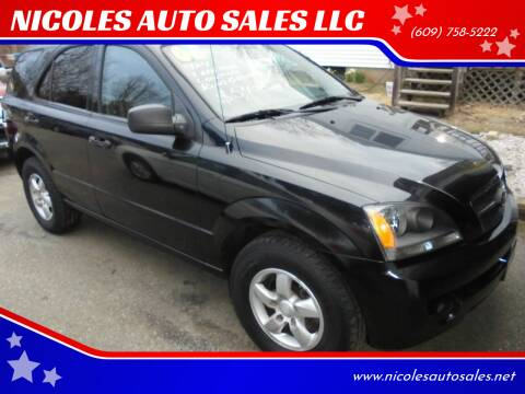 2006 Kia Sorento for sale at NICOLES AUTO SALES LLC in Cream Ridge NJ