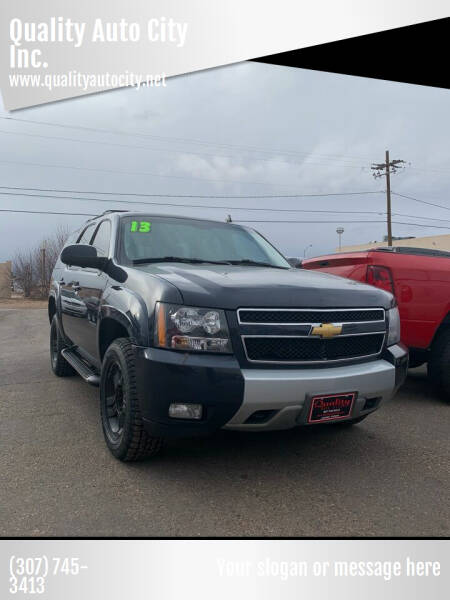 2013 Chevrolet Tahoe for sale at Quality Auto City Inc. in Laramie WY