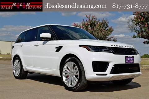 2018 Land Rover Range Rover Sport for sale at RLB Sales and Leasing in Fort Worth TX