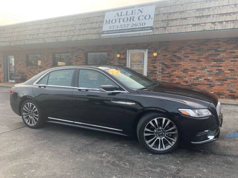 2017 Lincoln Continental for sale at Allen Motor Company in Eldon MO