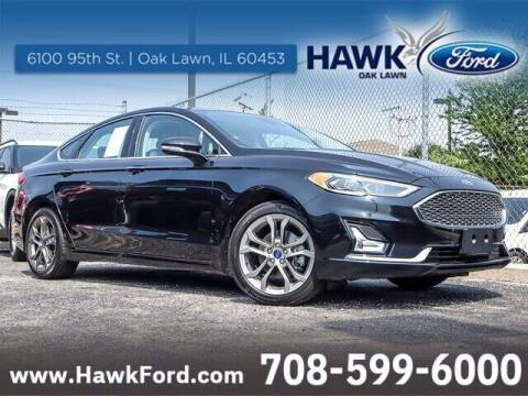 2020 Ford Fusion Hybrid for sale at Hawk Ford of Oak Lawn in Oak Lawn IL