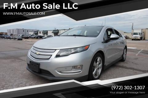 2012 Chevrolet Volt for sale at F.M Auto Sale LLC in Dallas TX