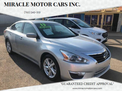 2013 Nissan Altima for sale at Miracle Motor Cars Inc. in Victorville CA