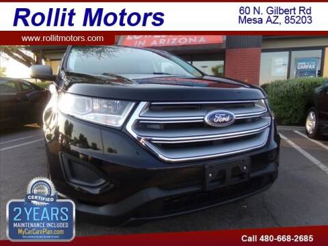 2017 Ford Edge for sale at Rollit Motors in Mesa AZ
