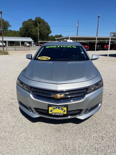 2016 Chevrolet Impala for sale at Bostick's Auto & Truck Sales LLC in Brownwood TX