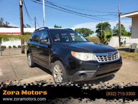 2011 Subaru Forester for sale at Zora Motors in Houston TX