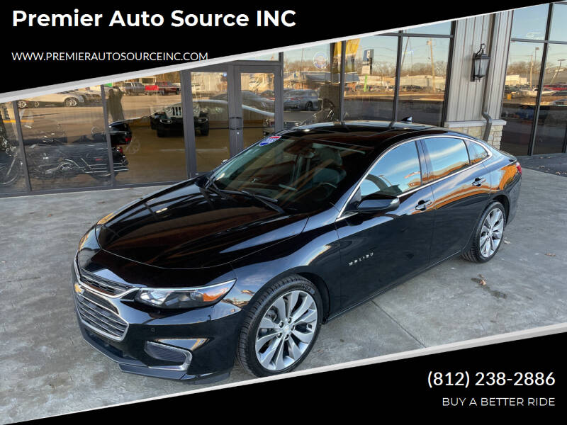 2018 Chevrolet Malibu for sale at Premier Auto Source INC in Terre Haute IN