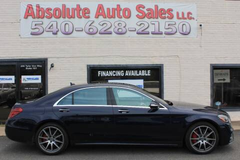 2018 Mercedes-Benz S-Class for sale at Absolute Auto Sales in Fredericksburg VA