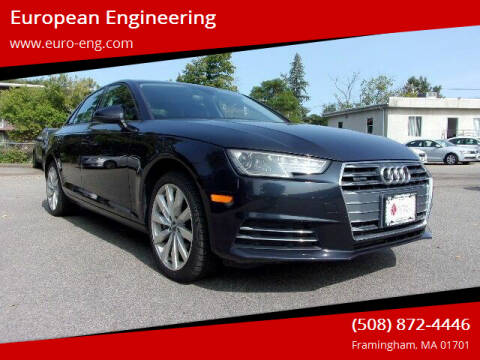 2017 Audi A4 for sale at European Engineering in Framingham MA