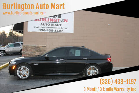 2013 BMW 5 Series for sale at Burlington Auto Mart in Burlington NC