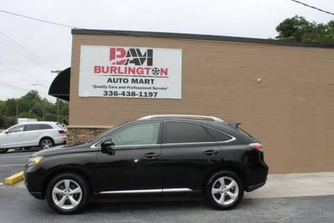 2011 Lexus RX 350 for sale at Burlington Auto Mart in Burlington NC