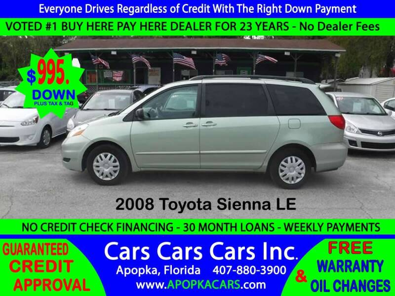 2008 Toyota Sienna for sale at CARS CARS CARS INC in Apopka FL