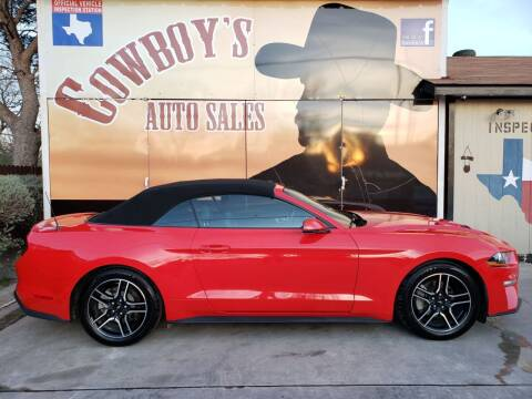 2019 Ford Mustang for sale at Cowboy's Auto Sales in San Antonio TX