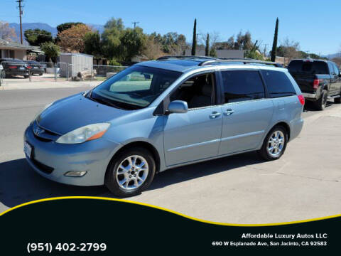 2006 Toyota Sienna for sale at Affordable Luxury Autos LLC in San Jacinto CA