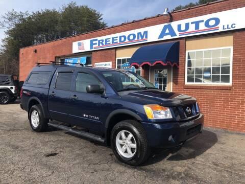2011 Nissan Titan for sale at FREEDOM AUTO LLC in Wilkesboro NC