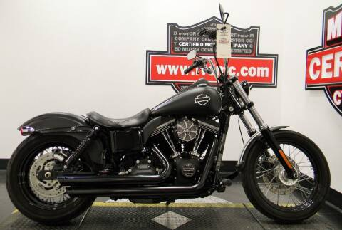 2016 Harley-Davidson DYNA STREET BOB for sale at Certified Motor Company in Las Vegas NV