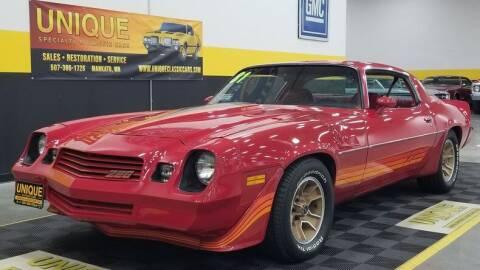 1981 Chevrolet Camaro for sale at UNIQUE SPECIALTY & CLASSICS in Mankato MN