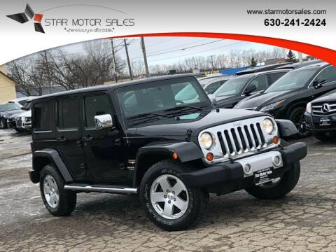 2012 Jeep Wrangler Unlimited for sale at Star Motor Sales in Downers Grove IL