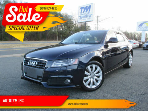 2009 Audi A4 for sale at AUTOTYM INC in Fredericksburg VA