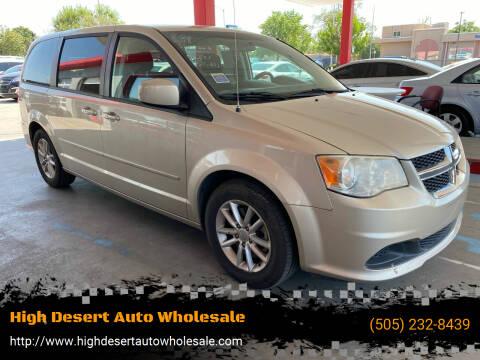 2013 Dodge Grand Caravan for sale at High Desert Auto Wholesale in Albuquerque NM