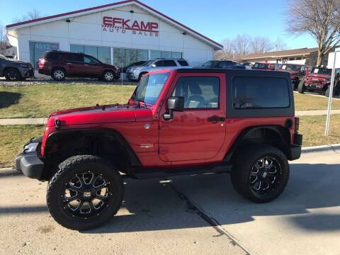 2014 Jeep Wrangler for sale at Efkamp Auto Sales LLC in Des Moines IA
