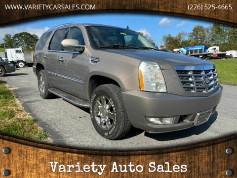 2007 Cadillac Escalade for sale at Variety Auto Sales in Abingdon VA