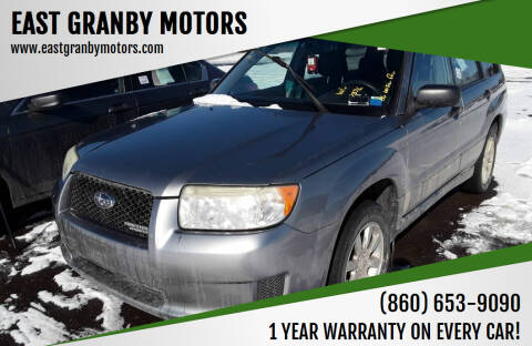 2007 Subaru Forester for sale at EAST GRANBY MOTORS in East Granby CT