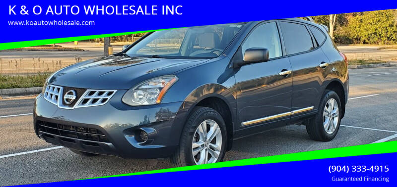 2015 Nissan Rogue Select for sale at K & O AUTO WHOLESALE INC in Jacksonville FL