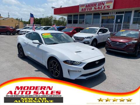 2020 Ford Mustang for sale at Modern Auto Sales in Hollywood FL
