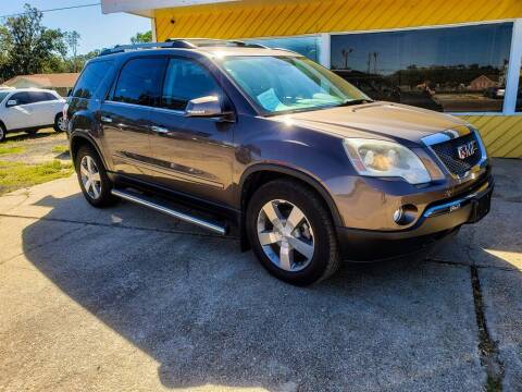 2012 GMC Acadia for sale at THE COLISEUM MOTORS in Pensacola FL