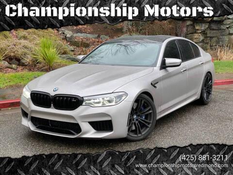 2018 BMW M5 for sale at Championship Motors in Redmond WA