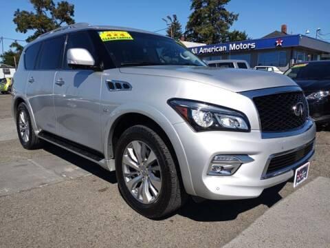 2015 Infiniti QX80 for sale at All American Motors in Tacoma WA