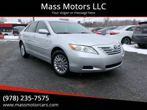 2009 Toyota Camry for sale at Mass Motors LLC in Worcester MA