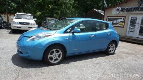 2011 Nissan LEAF for sale at E-Motorworks in Roswell GA
