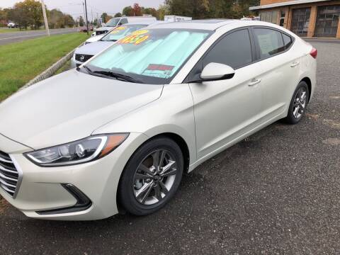 2017 Hyundai Elantra for sale at COLONIAL MOTORS in Branchburg NJ