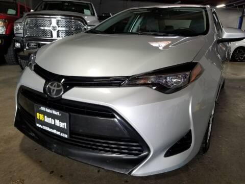 2017 Toyota Corolla for sale at 916 Auto Mart ONLY $399 DOWN!!!* in Sacramento CA