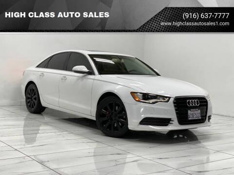 2013 Audi A6 for sale at HIGH CLASS AUTO SALES in Rancho Cordova CA