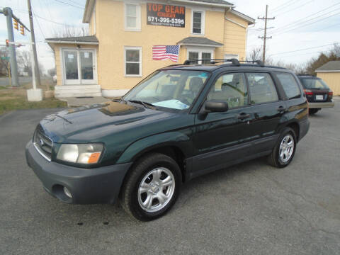 2005 Subaru Forester for sale at Top Gear Motors in Winchester VA