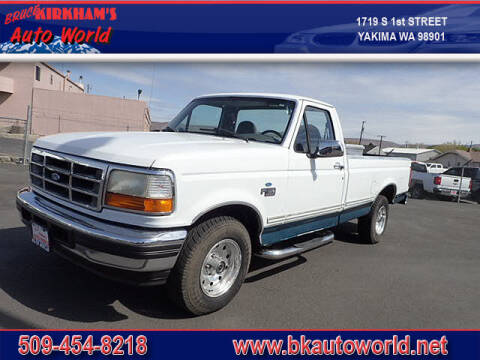 1996 Ford F-150 for sale at Bruce Kirkham Auto World in Yakima WA