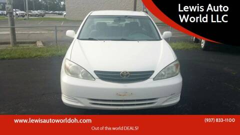 2003 Toyota Camry for sale at Lewis Auto World LLC in Brookville OH